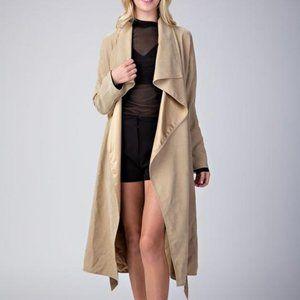 essue Lightweight Duster Jacket Khaki Size Medium